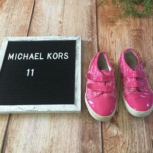 Michael Kors Girls pink shoes size 11